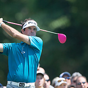 Bubba Watson, USA, in action during the second round of The Barclays Golf Tournament at The Plainfield Country Club, Edison, New Jersey, USA. 28th August 2015. Photo Tim Clayton