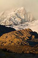 Snowstorm in mountains above the Buttermilk Region, Eastern Sierra, California