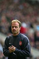 Photo: Andrew Unwin.<br /> Sunderland v Arsenal. The Barclays Premiership. 01/05/2006.<br /> Arsenal's Dennis Bergkamp.