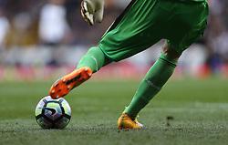 30 April 2017 London : Premier League Football : Tottenham Hotspur v Arsenal :<br /> abstract of Petr Cech taking a goal kick.<br /> Photo: Mark Leech