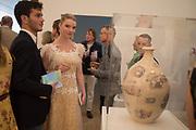 XAVIER DE LA ROCHE; ANYA TAYLOR-JOY, ;Royal Academy Summer Exhibition party. Burlington House. Piccadilly. London. 6 June 2018