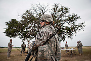 Male and female new recruits along with experienced soldiers of the US 7th Cavalry Division which traces its lineage back to the 19th century and General Custer, conduct Iron Warrior training to maintain skills between deployments to Afganistan at their base in Fort Hood,Texas.