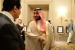 File photo - Salman Bin Abdulaziz Al Saud becomes New Saudi King after King Abdullah bin Abdulaziz has died, royal officials have announced, weeks after he was admitted to hospital. King Abdullah, who was said to be aged about 90, had been suffering from a lung infection. A statement early on Friday said his 79-year-old half brother, Salman, had become king. File photo : Prince Mohammed Bin Salman, son of Saudi Crown Prince Salman Bin Abdulaziz Al Saud (Saoud) attends lunch at Four Seasons Hotel George V, in Paris, France, on September 3rd, 2014. Saudi Arabia's king has appointed his son Mohammed bin Salman as crown prince - replacing his nephew, Mohammed bin Nayef, as first in line to the throne. Prince Mohammed bin Nayef, 57, has been removed from his role as head of domestic security, state media say. Photo by Ammar Abd Rabbo/ABACAPRESS.COM
