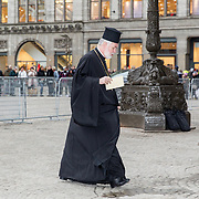 NLD/Amsterdam/20190115 - Koninklijke nieuwjaarsontvangst Nederlandse genodigden, grieks orthodoxe priester