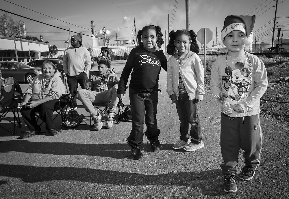 Kids at Norco's annual Christmas Parade