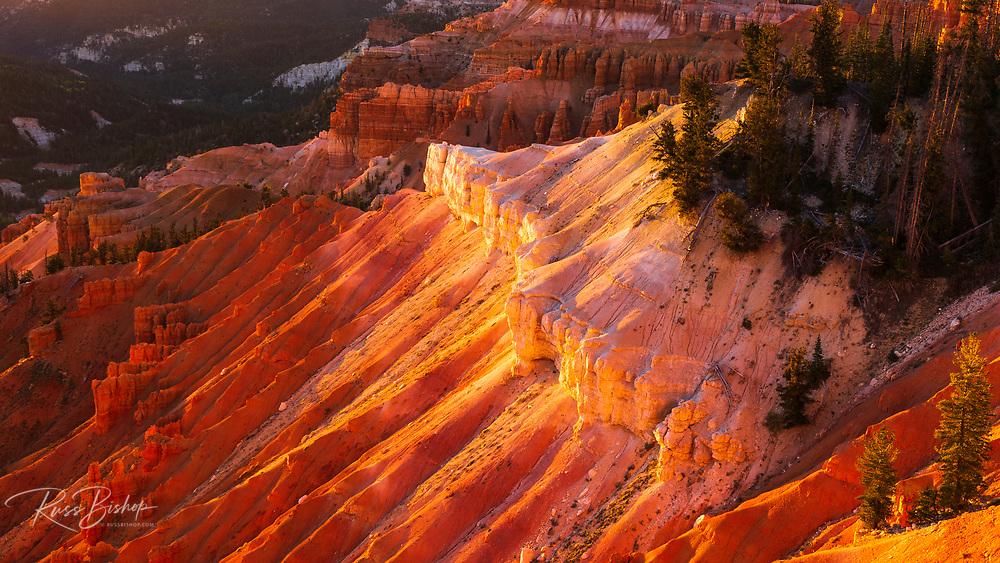 Evening light on Cedar Breaks, Cedar Breaks National Monument, Utah USA