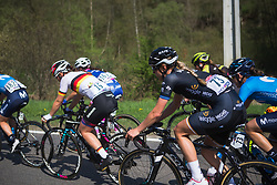 Emilia Fählin (SWE) of Wiggle Hi5 Cycling Team rides mid-pack during Liege-Bastogne-Liege - a 136 km road race, between Bastogne and Ans on April 22, 2018, in Wallonia, Belgium. (Photo by Balint Hamvas/Velofocus.com)