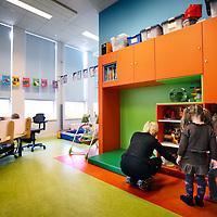 Nederland, Haarlem , 4 februari 2013..Bedrijfsverzamelgebouw de Greiner..In de Greiner zit naast de ateliers voor ZZp'ers ook nog een kinderdagverblijf...Foto:Jean-Pierre Jans