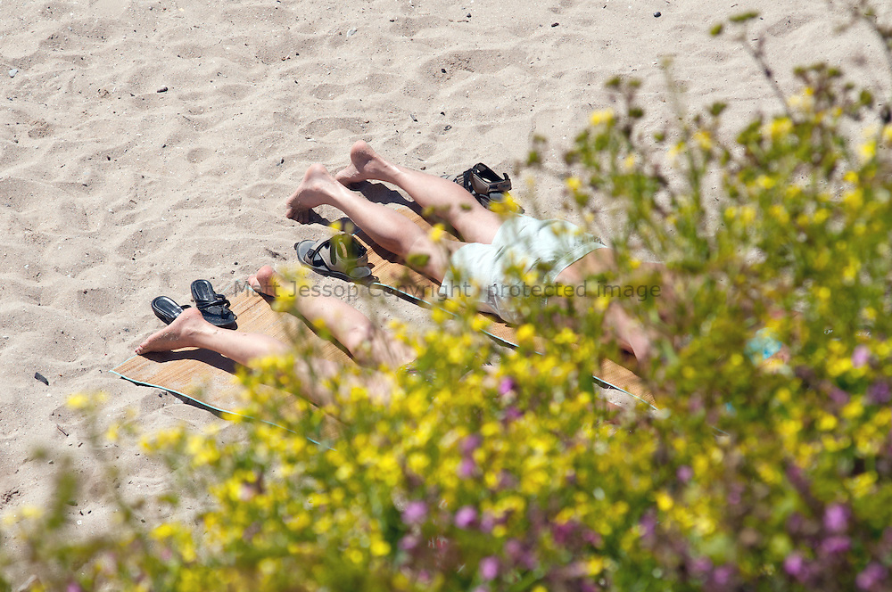Gylly Beach tanning 02