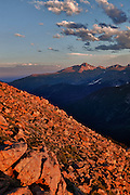 USA, Colorado, Rocky Mountain National Park, Long's Peak from Forest Canyon Overlook, Digital Composite, HDR