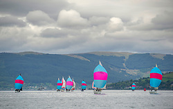 Day1, Hunter 707 fleet under grey skies on the East Patch.<br /> <br /> The Scottish Series, hosted by the Clyde Cruising Club is an annual series of races for sailing yachts held each spring. Normally held in Loch Fyne the event moved to three Clyde locations due to current restrictions. <br /> <br /> Light winds did not deter the racing taking place at East Patch, Inverkip and off Largs over the bank holiday weekend 28-30 May. <br /> <br /> Image Credit : Marc Turner / CCC