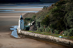 White Horses one of the properties in Portmeirion village, designed and built by Sir Clough Williams-Ellis, Gwynedd, Wales, UK