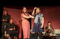 """Laconia High School drama """"Dearly Departed"""" dress rehearsal March 4, 2015.  Karen Bobotas for the Laconia Daily Sun"""
