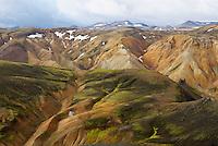 Islande. Montagne a Landmannalaugar. // Iceland. Mountains at Landmannalaugar