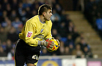 Photo: Leigh Quinnell.<br /> Reading v Southampton. Coca Cola Championship. 10/02/2006. Bartosz Bialkowski stops a shot for Southampton.