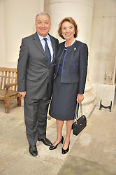 PROF.MARTIN GORE and DAME JANET HUSBAND at a Summer Drinks Party hosted by The Friends of The Royal Marsden, Chelsea held at The Royal Hospital Chelsea, Royal Hospital Road, London SW3 on 14th June 2012.