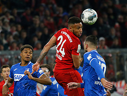05.02.2020, Allianz Arena, Muenchen, GER, DFB Pokal, FC Bayern Muenchen vs TSG 1899 Hoffenheim, Achtelfinale, im Bild Corentin Tolisso köpft, rechts Lunas Dabbur // during the German Pokal the round of last sixteen match between FC Bayern Muenchen and TSG 1899 Hoffenheim at the Allianz Arena in Muenchen, Germany on 2020/02/05. EXPA Pictures © 2020, PhotoCredit: EXPA/ SM<br /> <br /> *****ATTENTION - OUT of GER*****