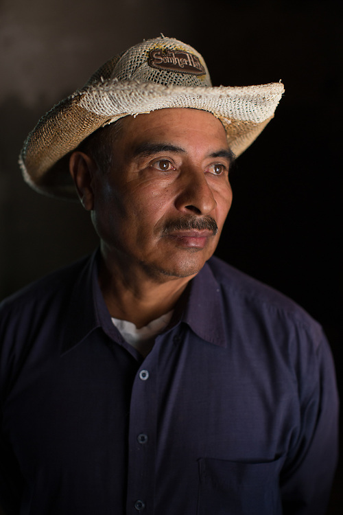 """Jesús García, Carrizal Uno, La Paz, Honduras. Jesús was a political prisoner in the 1980s, around the time that Archbishop Oscar Romero was assassinated, a Catholic who was working for justice and peace, he was disappeared for several days and taken to a military base, he was tortured, and then kept prisoner for 17 months """"for preaching the gospel and telling the truth"""" he says. He was released following a campaign by Amnesty International."""