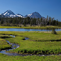 Middle & North Sister - Small Streams flowing into Golden Lake