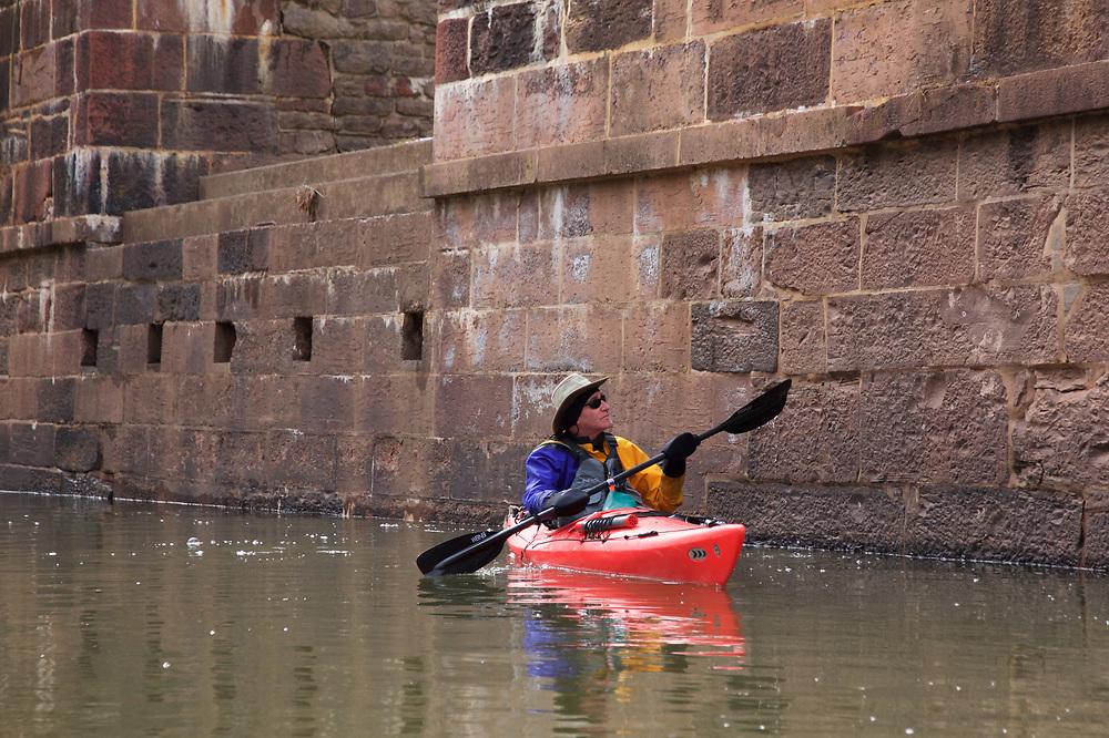 Paddling Broad run off the Potomac