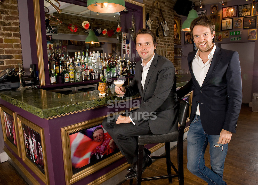 Picture by Daniel Hambury. .7/9/11.Resturant and club owners, Duncan Stirling (right) and Charlie Gilkes pictured in their newest venture, Bunga Bunga.