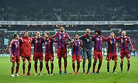 Fotball<br /> Tyskland<br /> 14.03.2015<br /> Foto: Witters/Digitalsport<br /> NORWAY ONLY<br /> <br /> Schlussjubel v.l. Philipp Lahm, Thomas Mueller, Bastian Schweinsteiger, Mitchell Weiser, Jerome Boateng, Juan Bernat, Torwart Pepe Reina, Dante, Robert Lewandowski, Sebastian Rode (Bayern)<br /> Fussball Bundesliga, SV Werder Bremen - FC Bayern München 0:4