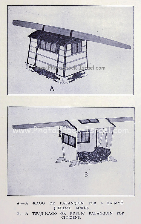 Palanquin From the book ' The story of the geisha girl ' by Taizo Fujimoto, Published in London by T. Werner Laurie
