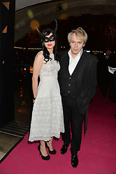 NICK RHODES and NEFER SUVIO at a private view of Isabella Blow: Fashion Galore! held at Somerset House, London on 19th November 2013.