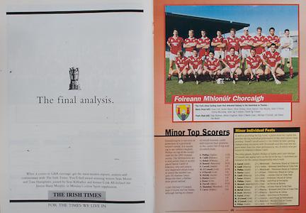 All Ireland Senior Hurling Championship - Final, .03.09.1995, 09.03.1995, 3rd September 1995, .03091995AISHCF, .Senior Clare v Offaly,.Minor Kilkenny v Cork,.Clare 1-13, Offaly 2-8, .The Irish Times,