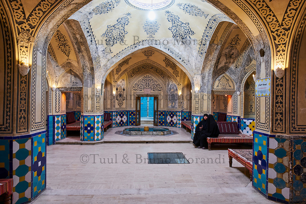Iran, Province d'Ispahan, Kashan, le hammam du sultan Mir Ahmed // Iran, Isfahan province, Kashan city, the hammam or bathhouse of sultan Mir Ahmad