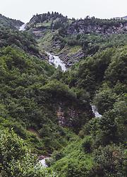 THEMENBILD - der Blick auf den Wasserfall entlang des Wasserfallweges, aufgenommen am 28. Juli 2019 in Fusch a. d. Grossglocknerstrasse, Oesterreich // the view of the waterfall along the waterfall path along the waterfall trail in Fusch a. d. Grossglocknerstrasse, Austria on 2019/07/28. EXPA Pictures © 2019, PhotoCredit: EXPA/Stefanie Oberhauser