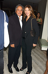 Artist ANISH KAPOOR and his wife SUSANNAH at a dinner hosted by Arnaud Bamber MD of Cartier, Amanda Sharp and Matthew Slotover Directors of the Frieze Art Fair to celebrate artists featured in the 2005 Frieze Art Fair Curatorial Programme at Nobu-Berkeley, 15th Berkeley Street, London on 21st October 2005.<br /><br />NON EXCLUSIVE - WORLD RIGHTS
