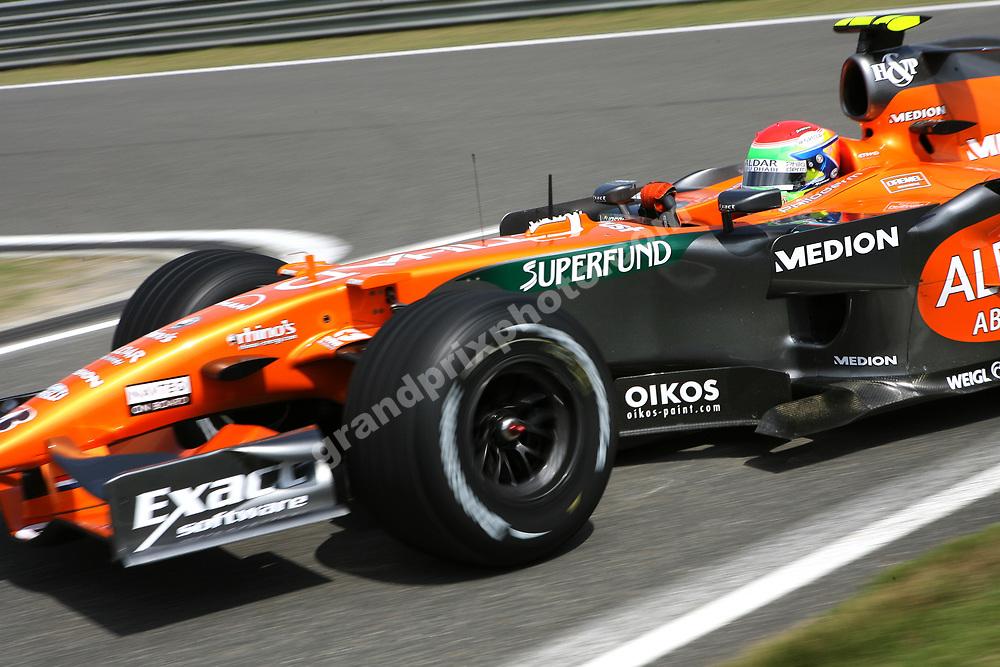 Sakon Yamamoto (Spyker-Ferrari) during practice before the 2007 Chinese Grand Prix in Shanghai. Photo: Grand Prix Photo