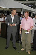 MIKE DUNHILL AND IAN MONTAGU, Alfred Dunhill Million Dollar Putt, the Dunhill Clubhouse. Broadgate Arena.London EC2. 25 July 2006.  ONE TIME USE ONLY - DO NOT ARCHIVE  © Copyright Photograph by Dafydd Jones 66 Stockwell Park Rd. London SW9 0DA Tel 020 7733 0108 www.dafjones.com