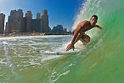 Graeme Fenton surfing