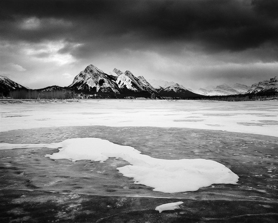 Abraham Lake in Winter
