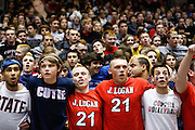 Coppell fans cheer for their team and taunt New Braunfels in the Class 5A state championship at the Curtis Culwell Center in Garland, Texas, on November 17, 2012.  (Stan Olszewski/The Dallas Morning News)
