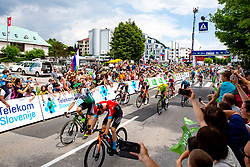 Jon ABERASTURI IZAGA of CAJA RURAL-SEGUROS RGA celebrates victory and Matej MOHORIC of BAHRAIN VICTORIOUS during 3rd Stage of 27th Tour of Slovenia 2021 cycling race between Brezice and Krsko (165,8 km), on June 11, 2021 in Slovenia. Photo by Matic Klansek Velej / Sportida