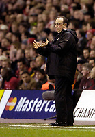 Photo: Jed Wee.<br /> Liverpool v Benfica. UEFA Champions League. 08/03/2006.<br /> <br /> Liverpool manager Rafael Benitez.