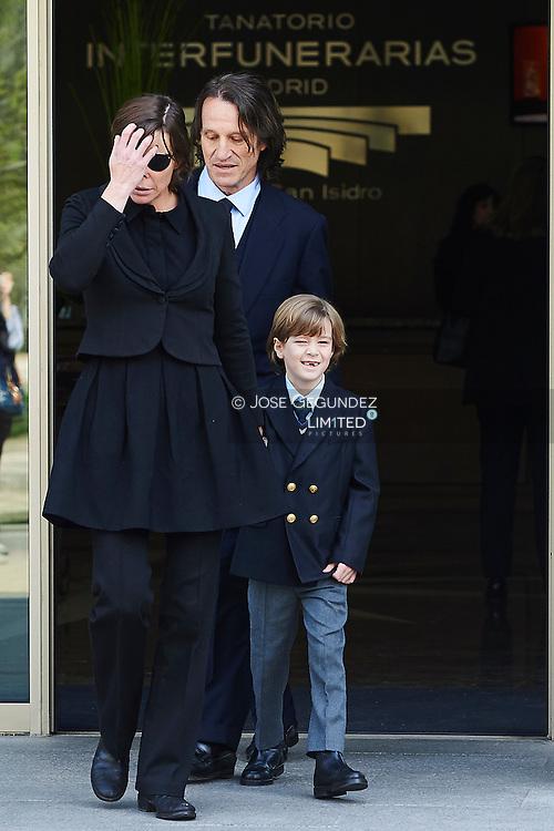 Princess Kalina of Bulgaria and Kitin Munoz attended the Kardam Prince of Turnovo (Tirnovo) Mass Funeral at San Isidro Morgue on April 8, 2015 in Madrid, Spain.<br /> Kardam Prince of Turnovo died at 52 years old in Madrid.