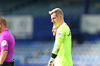 Football - 2020 / 2021 Sky Bet League One - Portsmouth vs. MK Dons<br /> <br /> Portsmouth's Craig MacGillivray with a cut to his head during the League One fixture at Fratton Park <br /> <br /> COLORSPORT/SHAUN BOGGUST