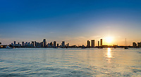 View of downton Miami from the water in Biscayne Bay