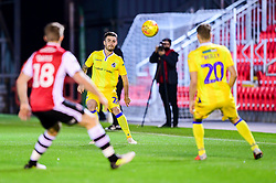 Michael Kelly of Bristol Rovers passes to Gavin Reilly of Bristol Rovers  - Mandatory by-line: Ryan Hiscott/JMP - 13/11/2018 - FOOTBALL - St James Park - Exeter, England - Exeter City v Bristol Rovers - Checkatrade Trophy