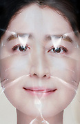 collaged face composite