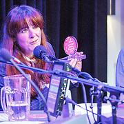 NLD/Amsterdam/20150518 - Uitreiking Storytel Luisterboek Award , Beatrice van der Poel wint de award