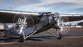 Ford Trimotor Visit to B-17 Alliance, 2016