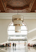 The interior of the modern built train station in the Ville Nouvelle, the new town, in Fes, Morocco