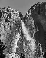 Upper Yosemite Falls in the Winter. Yosemite National Park. Image taken with a Nikon D3x camera and 14-24 mm f/2.8 lens.