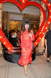 GRACE WOODWARD at the Revlon Choose Love Masquerade Ball held at the V&A Museum, Cromwell Road, London on 21st July 2016.