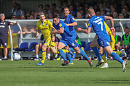 AFC Wimbledon midfielder Anthony Hartigan (8) during the EFL Sky Bet League 1 match between AFC Wimbledon and Bristol Rovers at the Cherry Red Records Stadium, Kingston, England on 19 April 2019.
